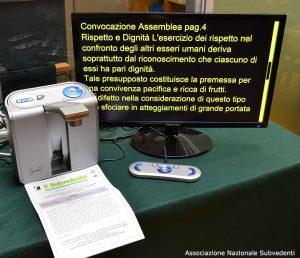 Macchina automatica per lettura con schermo nero/giallo