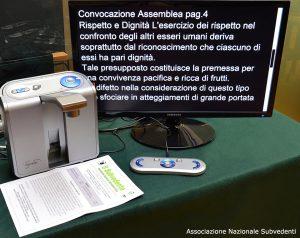 Macchina automatica per lettura con schermo nero/bianco