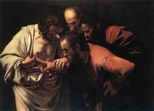 Quadro Tommaso apostolo, Caravaggio